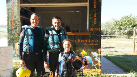 Rafting en familia por primera vez