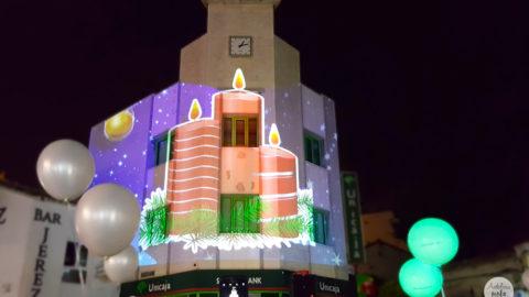 Precioso mapping en la inauguración de la Navidad en Torremolinos